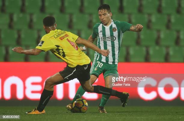 Rio Ave FC forward Oscar Barreto from Colombia in action during the Primeira Liga match between Rio Ave FC and Boavista FC at Estadio dos Arcos on...