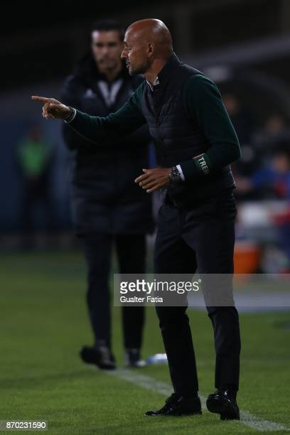 Rio Ave FC head coach Miguel Cardoso from Portugal in action during the Primeira Liga match between GD Estoril Praia and Rio Ave FC at Estadio...