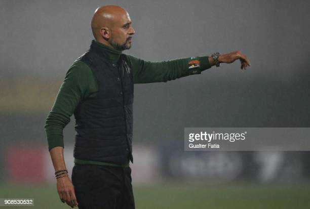 Rio Ave FC head coach Miguel Cardoso from Portugal in action during the Primeira Liga match between Rio Ave FC and Boavista FC at Estadio dos Arcos...