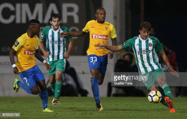 Rio Ave FC midfielder Francisco Geraldes from Portugal in action during the Primeira Liga match between GD Estoril Praia and Rio Ave FC at Estadio...