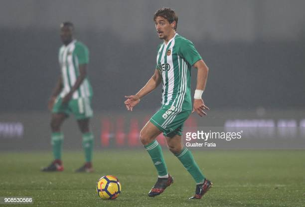 Rio Ave FC midfielder Francisco Geraldes from Portugal in action during the Primeira Liga match between Rio Ave FC and Boavista FC at Estadio dos...
