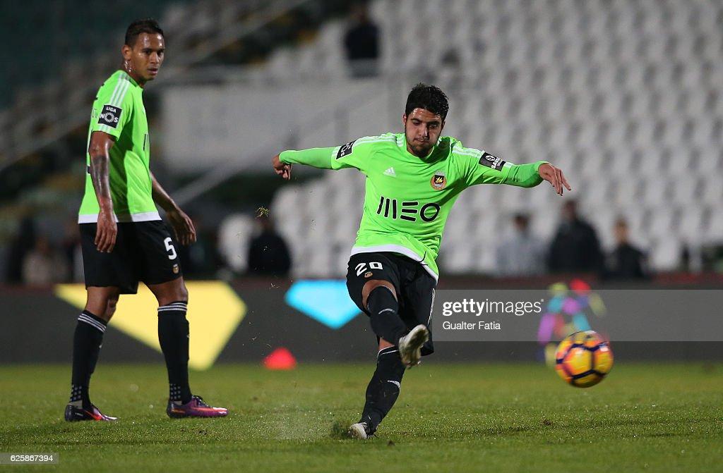 Rio Ave FC's midfielder Joao Novais in action during Primeira Liga match between Vitoria Setubal and Rio Ave FC at Estadio do Bonfim on November 25, 2016 in Setubal (Lisbon), Portugal.