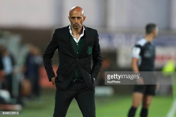 Rio Ave´s Portuguese head coach Miguel Cardoso during the Premier League 2017/18 match between Rio Ave FC and FC Porto at Rio Ave Stadium in Vila do...
