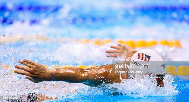 Rio , Brazil - 10 August 2016; Ryan Lochte of USA competes in the heats of the Men's 200m Individual Medley at the Olympic Aquatic Stadium during the...
