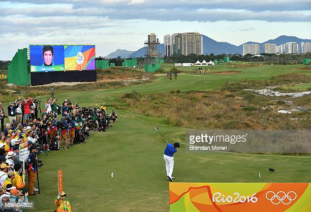 Rio , Brazil - 11 August 2016; Adilson da Silva of Brazil on the first tee box during Round 1 of the Men's Strokeplay competition at the Olympic Golf...