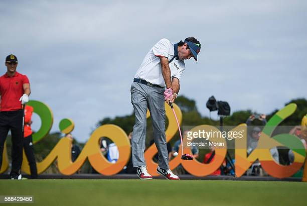 Rio Brazil 11 August 2016 Bubba Watson of the USA on the 12th tee box during Round 1 of the Men's Strokeplay competition at the Olympic Golf Course...