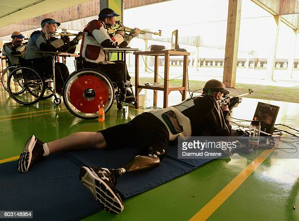 Rio , Brazil - 12 September 2016; Sean Baldwin of Ireland in the prone position during the Men's R7 50m Rifle 3 positions SH1 Qualifier at the...