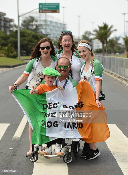 Rio Brazil 14 September 2016 Declan Slevin of Ireland along with his wife Evelyn and their children Amy aged 19 Jessica aged 17 and Graham aged 5...