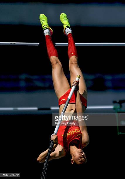 Rio Brazil 16 August 2016 Ling Li of China in action during the Women's Pole Vault Qualifying Round at the Olympic Stadium during the 2016 Rio Summer...