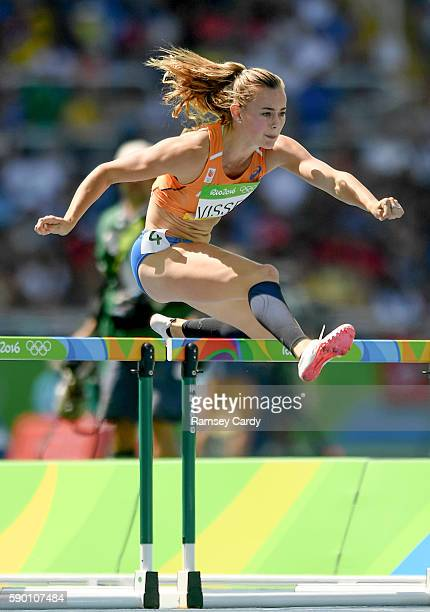 Rio Brazil 16 August 2016 Nadine Visser of Netherlands during the Women's 100m hurdles at the Olympic Stadium during the 2016 Rio Summer Olympic...