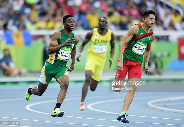 Rio Brazil 16 August 2016 Tlotliso Leotlela of South Africa in action during the Men's 200m Round 1 at the Olympic Stadium during the 2016 Rio Summer...