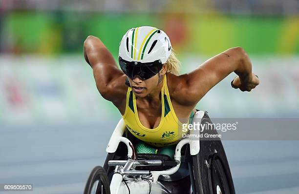 Rio Brazil 17 September 2016 Madison de Rozario of Australia in action during the Women's 800m T53 Final where she took silver at the Olympic Stadium...