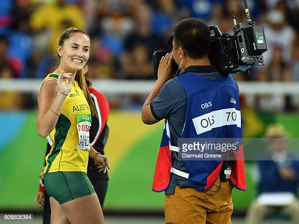 Rio Brazil 17 September 2016 Rae Anderson of Australia before the F38 Discus Final at the Olympic Stadium during the Rio 2016 Paralympic Games in Rio...