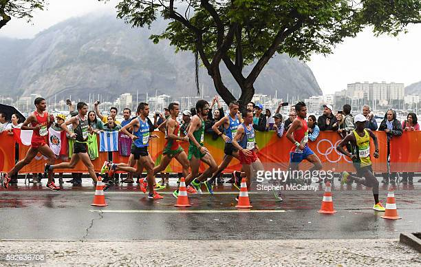 Rio Brazil 21 August 2016 Mick Clohisey fifth from right of Ireland in action during the Men's Marathon during the 2016 Rio Summer Olympic Games in...