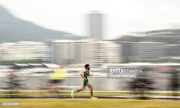 Rio Brazil 21 August 2016 Mick Clohisey of Ireland in action during the Men's Marathon during the 2016 Rio Summer Olympic Games in Rio de Janeiro...