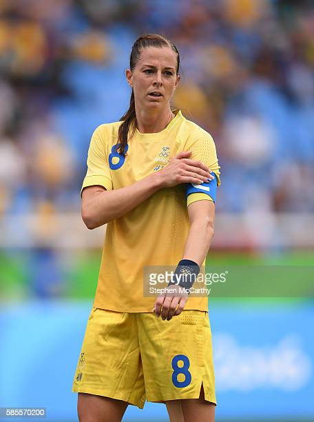 Rio Brazil 3 August 2016 Lotta Schelin of Sweden during the Women's Football first round Group E match between Sweden and South Africa on Day 2 of...