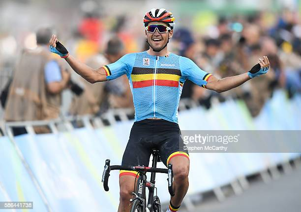2c628dcc2 Rio Brazil 6 August 2016 Greg van Avermaet of Belgium celebrates winning  the Men s Road Race