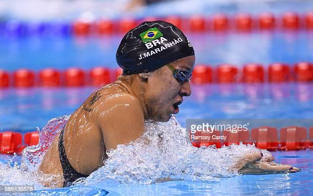 Rio Brazil 6 August 2016 Joanna Maranhão of Brazil in action during the women's 400m medley heats in the Olympic Aquatic Stadium Barra de Tijuca...