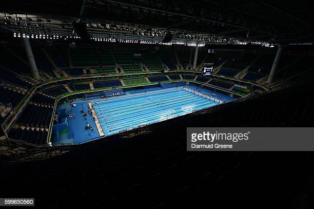 Rio Brazil 6 September 2016 An overall view of the Olympic Aquatic Stadium ahead of the 2016 Paralympic Games in Rio de Janeiro Brazil