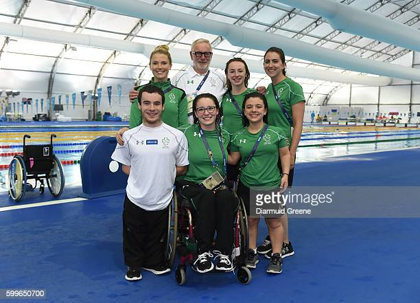 Rio Brazil 6 September 2016 Team Ireland swimming team members James Scully Ailbhe Kelly Ellen Keane and Nicole Turner along with physiologist Ciara...