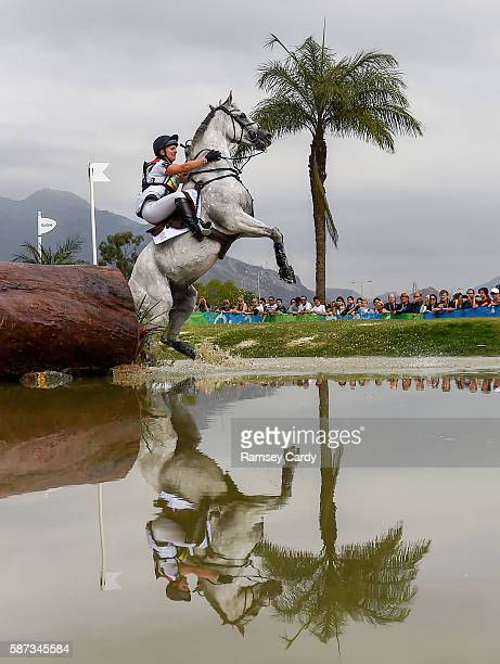 Rio Brazil 8 August 2016 Gemma Tattersall of Great Britain on Quicklook V in action during the Eventing Team Cross Country at the Olympic Equestrian...