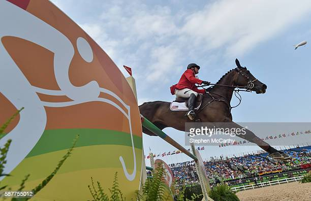 Rio Brazil 9 August 2016 Boyd Martin of USA on Blackfoot Mystery in action during the Eventing Individual Jumping Final at the Olympic Equestrian...