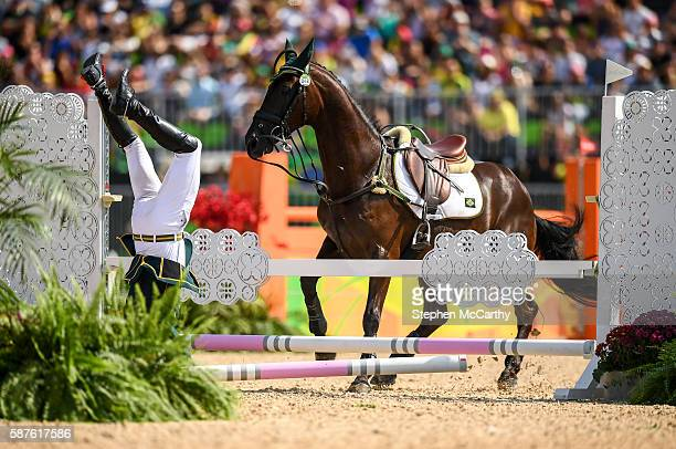 Rio , Brazil - 9 August 2016; Ruy Fonseca of Brazil, on Tom Bombadill Too, during the Eventing Team Jumping Final at the Olympic Equestrian Centre,...