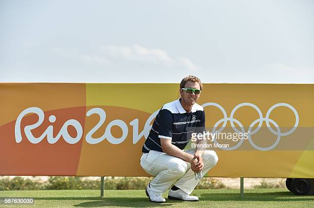 Rio , Brazil - 9 August 2016; Seamus Power of Ireland poses for a portrait during a practice round ahead of the Men's Strokeplay competition at the...