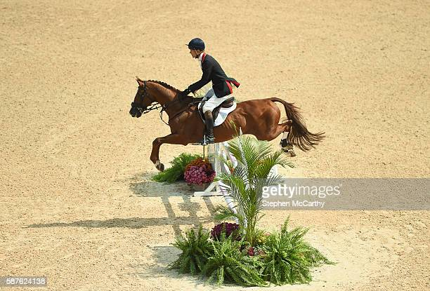 Rio Brazil 9 August 2016 William FoxPitt of Great Britain on Chilli Morning in action during the Eventing Team Jumping Final at the Olympic...