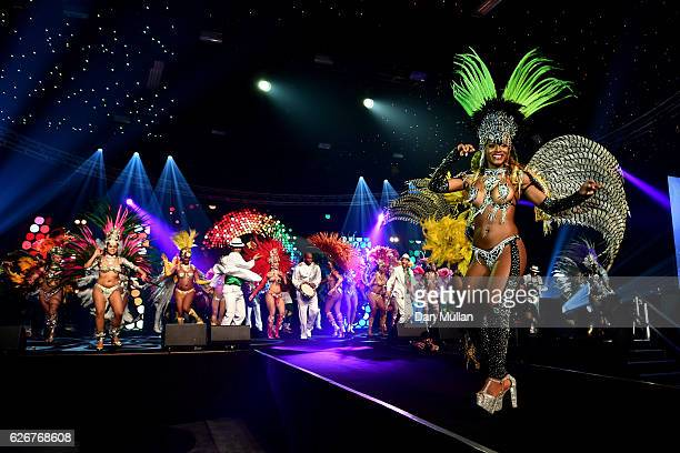 Rio Carnaval dancers perform onstage at the Team GB Ball at Battersea Evolution on November 30 2016 in London England