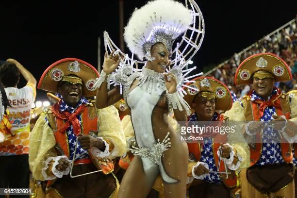 Rio Carnival 2017 Gremio Recreativo School of Samba Estacio de Sa on February 24 2017 in Rio de Janeiro Brazil