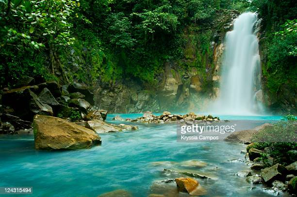 rio celeste falls - costa rica stock photos and pictures