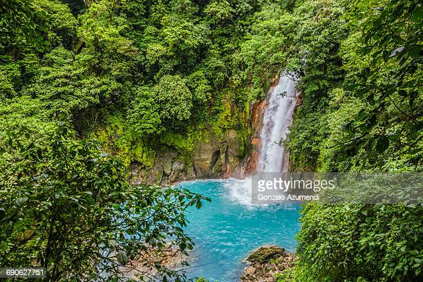 Rio Celeste river waterfall
