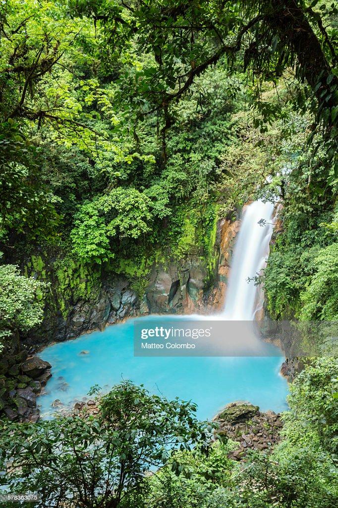 Rio Celeste waterfall, Costa Rica : Foto de stock