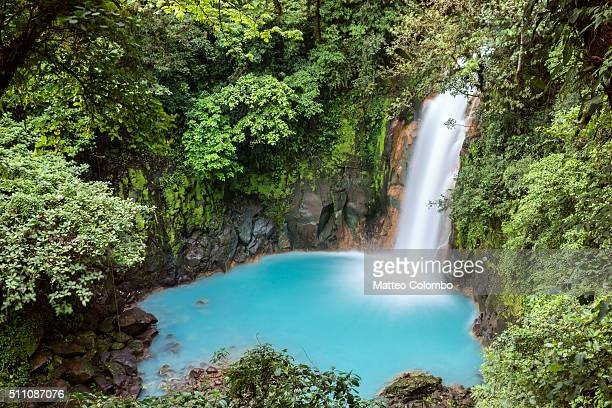 Rio Celeste waterfall, elevated view, Costa Rica