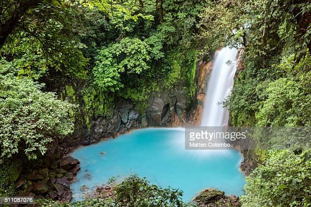 Rio Celeste waterfall, elevated view, Costa Rica