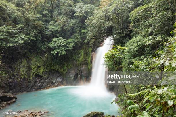Rio Celeste waterfall in Tenorio Volcano National Park, Costa Rica