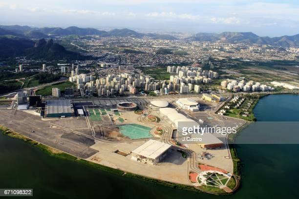 rio de janeiro - aerial view - 2016 summer olympics rio de janeiro stock photos and pictures
