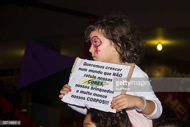 Hundreds of women held a demonstration in Rio's downtown streets to protest against sexism and against the gang rape suffered by a girl of 16 years...