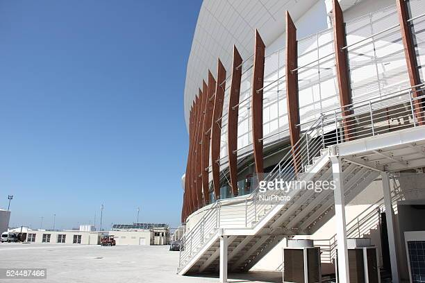 Rio de Janeiro, Brazil, 6 March 2016: Missing five months for the start of the Olympic Games Rio 2016. The works of construction of Arenas of Rio...