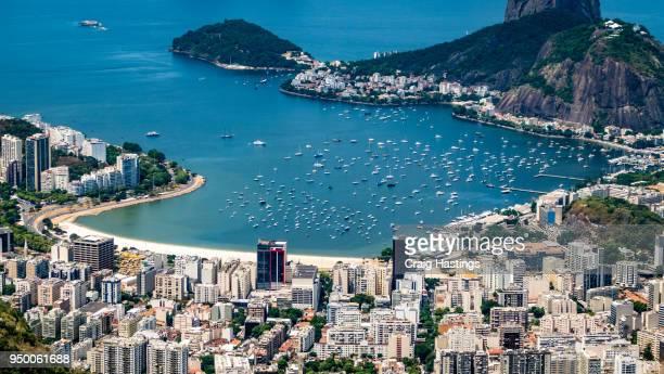 rio de janeiro brazil cityscape city view - copacabana rio de janeiro stock-fotos und bilder