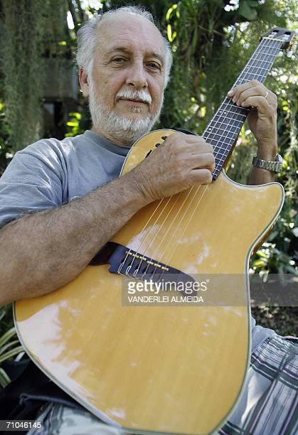 TO GO WITH PARTICK FORT'S STORY Brazilian musician Roberto Menescau one of the creators of Bossa Nova music poses with his guitar during an interview...