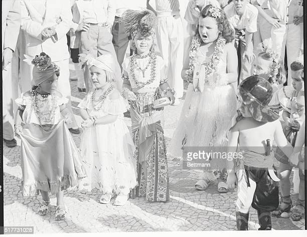 Rio de Janeiro Brazil Young Revelers Not to be outdone by their elders the youngsters don elaborate costumes as they join in the daytime portions of...