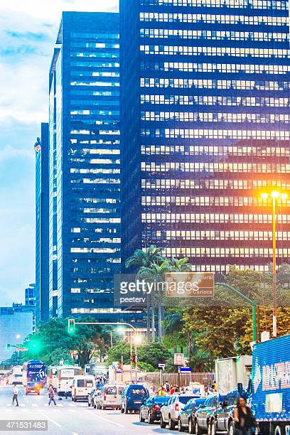 rio de janeiro downtown by night. - limpet stock pictures, royalty-free photos & images