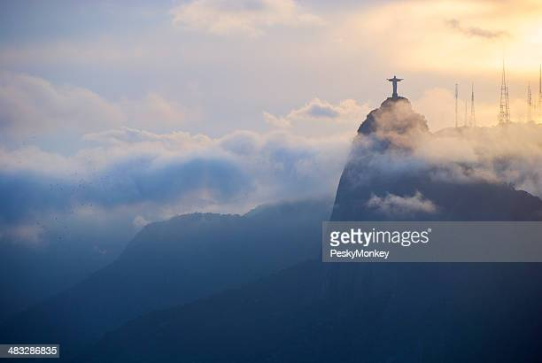 Rio de Janeiro Misty Corcovado Sunset