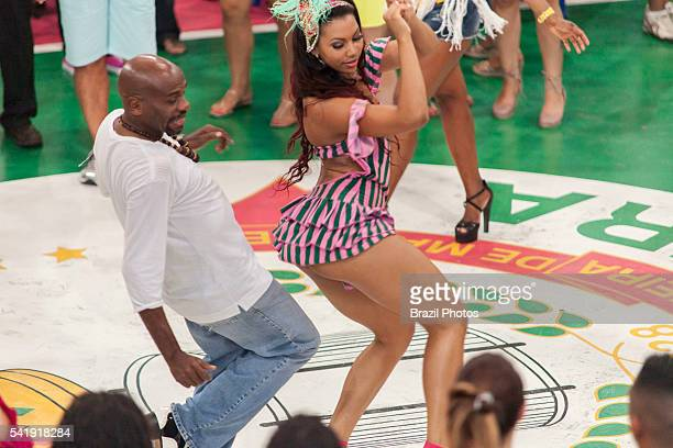Rio de Janeiro nightlife couple dance samba at Mangueira Samba School headquarters at Favela da Mangueira in the north zone of the city