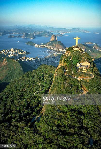 rio de janeiro, panoramic view - corcovado stock pictures, royalty-free photos & images