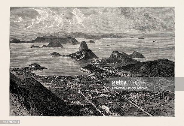 Rio De Janeiro View From The Summit Of Corcovado Showing The Suburb Of Botafogo Entrance Of The Harbour And The Sugar Loaf Mountain Views In Rio De...