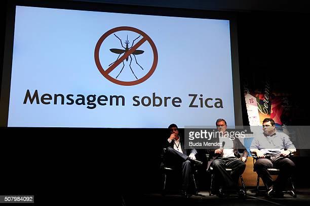 Rio de Janeiro's health secretary Daniel Soranz Rio 2016 organizing committee director of medical services Joao Grangeiro and Sub Secretary of...