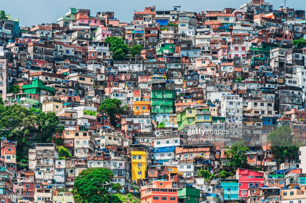 Rio de Janeiro's Rocinha is The largest shanty town in South America : Stock-Foto